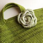 リネン糸でバッグ編みました